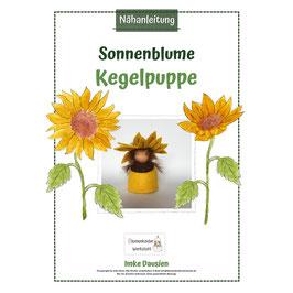 Nähanleitung Kegelpuppe Sonnenblume