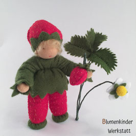 Erdbeere Junge