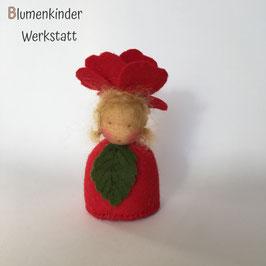 Rote Rose Kegelpuppe
