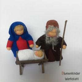 Maria und Josef mit Kind und Krippe - Heilige Familie