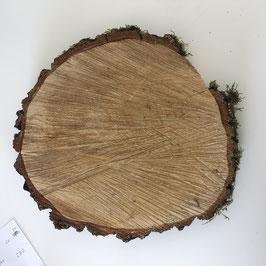 Birkenholzscheibe 25-27 cm