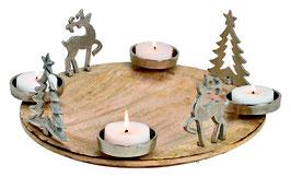Adventsgesteck Holz