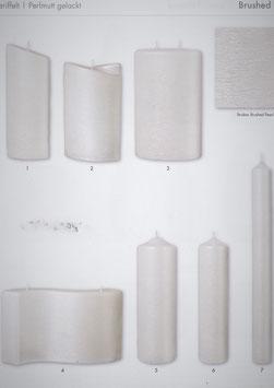 Brushed Pearl Struktur Formenkerzen