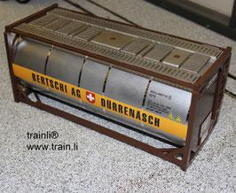 Art.-Nr. 19040 Bertschi Flüssigcontainer Braun/Silber