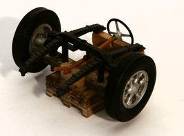 Art.-Nr. A 19150 Vorderachse Saurer mit Lenkrad, ohne Holzpalette