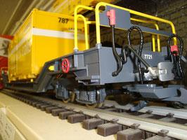 Art.-Nr. 19015 P Wechselbehältertragwagen RhB Sb-v 7727 , R2 Ausführung