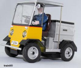 Art.-Nr. 19300 S Vierrad Elektroschlepper TR 5047 mit Fahrer Kurt