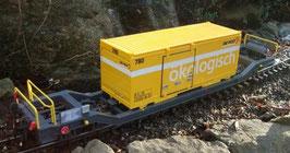 Art.-Nr. 19013 P Wechselbehältertragwagen Sb-v 7716 mit Container  Version R2