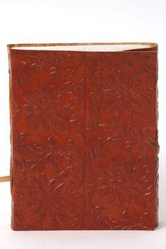 Notizbuch, geprägte Blumen