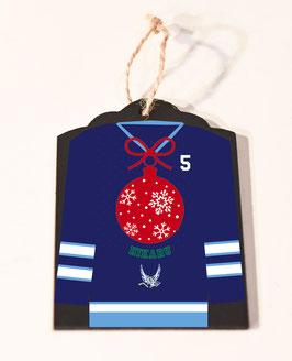 KKK : Wood Jersey Ornament