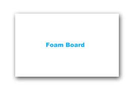 Mount  with foam board