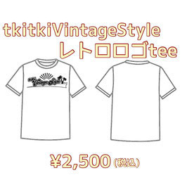 tkitki VintageStyle レトロロゴtee