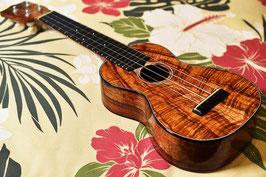 NEW/tkitki ukulele HK-S5A Custom 【ハワイアンコア5Aグレード】 Soprano