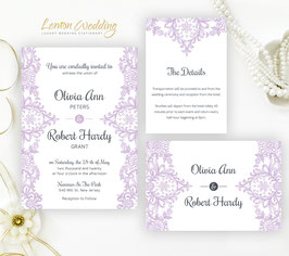 Light Purple wedding invitations set # 46.3