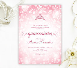 Pink Quinceanera Invitations