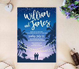 Destination Gay Wedding Invitation