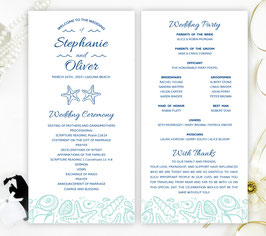 Beach wedding programs # 0.22