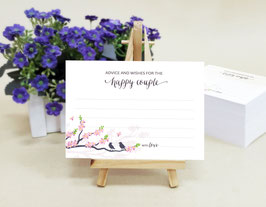 Love birds wedding advice cards - pack of 100