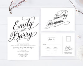 Simple wedding invitations # 109.2