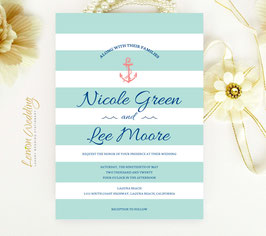 Anchor wedding invitations # 52.1