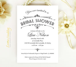 Classic bridal shower invitations # 0.27