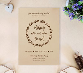 Brown wedding invitations # 70.1