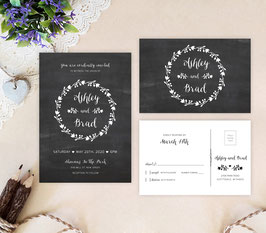 Black wedding invitations # 67.2