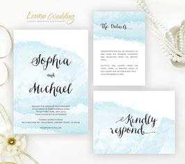 Blue wedding invitation # 18.3
