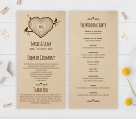 Country wedding programs # 0.31