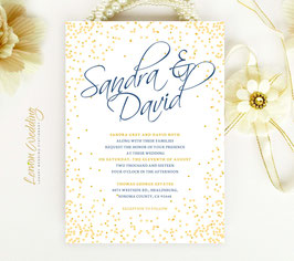 Yellow wedding invitation # 10.1