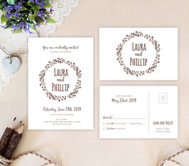 Simple wedding invitation sets  # 102.2