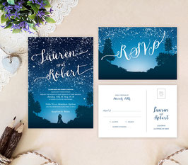 Starry night wedding invitation # 24.2