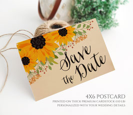 Country save the date postcards