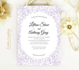 Purple wedding invitations # 83.1
