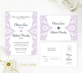 Lilac wedding invitations # 46.2