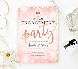 Pink Engagement Party Invitations