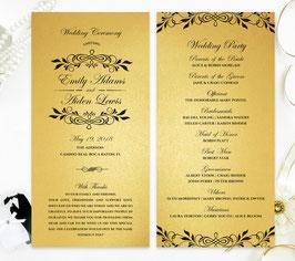 Gold wedding programs # 0.23