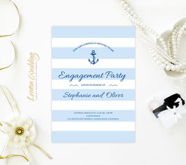 Nautical Engagement Invitation