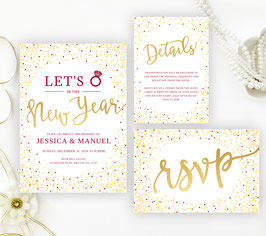 New Year's Eve Wedding Invitations  # 121.3