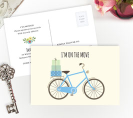 Blue Bicycle Moving Postcards