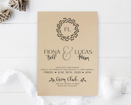 Kraft wedding invitations # 84.1