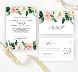 Floral wedding invitation sets  # 10.2