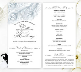 Peacock wedding programs # 0.33