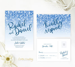 Navy blue wedding invitations # 89.2