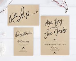 Calligraphy wedding invitation sets  # 112.3