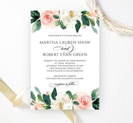 Floral wedding invitations #1