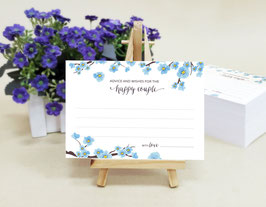 Spring wedding advice cards - pack of 100