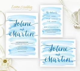 Watercolor wedding invitations # 72.3