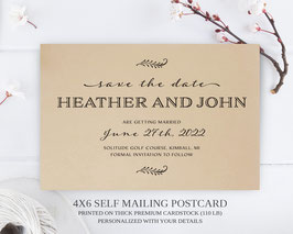 Formal save the date postcards