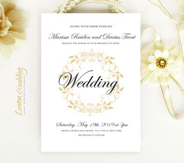 Traditional wedding invites # 107.1
